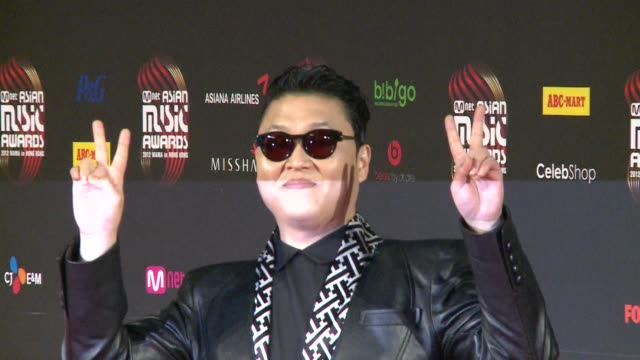 south korean pop sensation psy is the big winner at the mnet asian music awards in hong kong with thousands of fans a screaming testament to the... - music style stock videos and b-roll footage