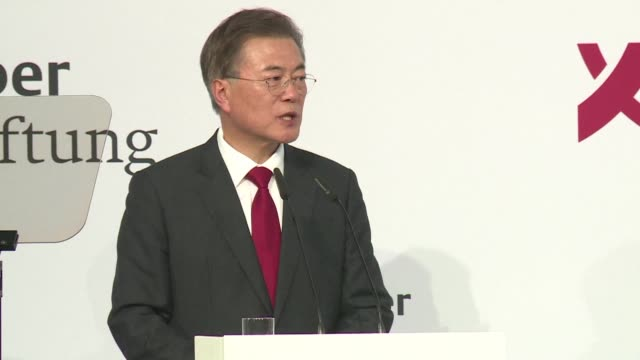 South Korean President Moon Jae In says he is ready to meet the North's leader wherever and whenever to ease tensions after Pyongyang's first...