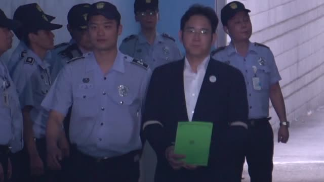 south korean prosecutors demand the heir to the samsung empire be jailed for 12 years over his role in the corruption scandal that brought down the... - heir stock videos and b-roll footage