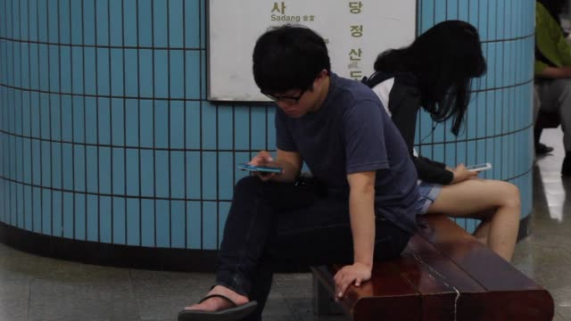 south koreas pride in its high tech prowess is now tinged by anxiety over digital addiction with even pre school children showing symptoms of it... - addiction stock videos & royalty-free footage