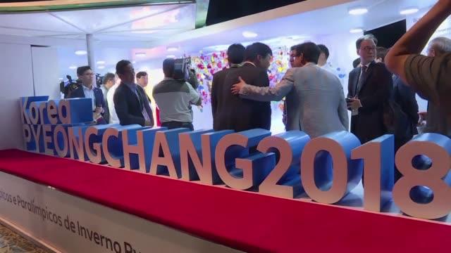 South Korea's sport minister opens the Pyeongchang 2018 Winter Olympics house at the Rio Summer Games in Rio de Janeiro