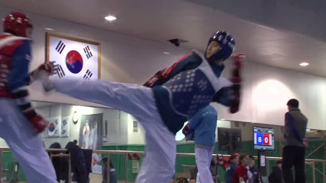 south korea's twotime world taekwondo champion lee daehoon has a weight problem when it comes to securing the olympic title he craves - world title stock videos and b-roll footage