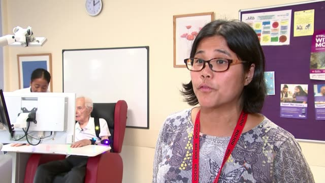 South London hospital uses virtual reality to help people recover from strokes ENGLAND London Croydon University Hospital INT Karen Kee interview SOT