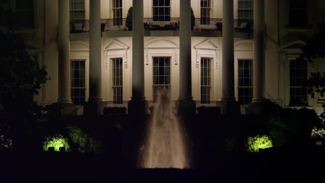 South Portico of the White House at night. Shot in 2012.