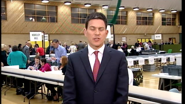 david miliband mp interview sot if no party has a majority in the house of commons then no party has the moral right to an absolute monopoly of power... - south shields stock videos & royalty-free footage
