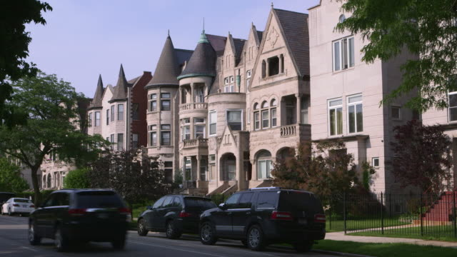 stockvideo's en b-roll-footage met ws south side greystone apartments day - establishing shot