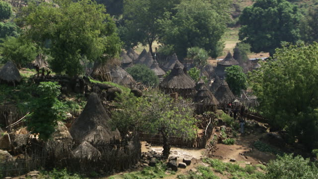 south sudan : african village - indigenous culture stock videos & royalty-free footage