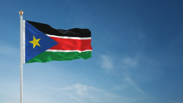 4k south sudan flag - loopable - independence stock videos & royalty-free footage