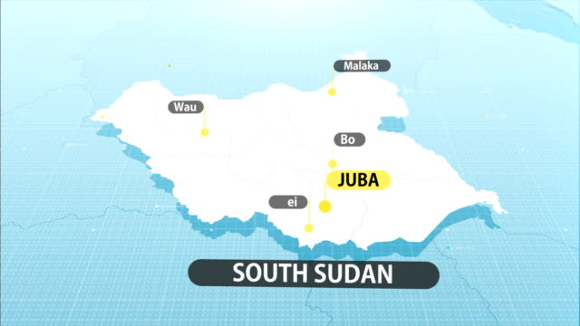 South Sudanese map