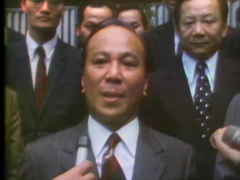 vidéos et rushes de south vietnam president nguyen van thieu says he has a clear idea of how to end the vietnam war. - la fin