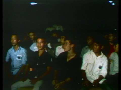 south vietnamese demonstrators attend a gia dinh rally against the peace agreement for vietnam. - south vietnam stock videos & royalty-free footage