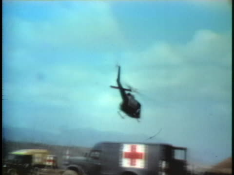 south vietnamese marines board a helicopter in khe sanh, south vietnam. - south vietnam stock videos & royalty-free footage