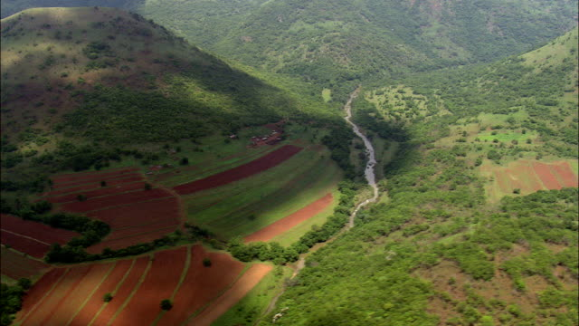 south west corner of swaziland  - aerial view - mpumalanga,  south africa - mpumalanga province stock videos and b-roll footage