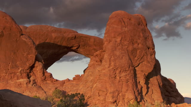 South Window Arch in the spectacles area at sunset