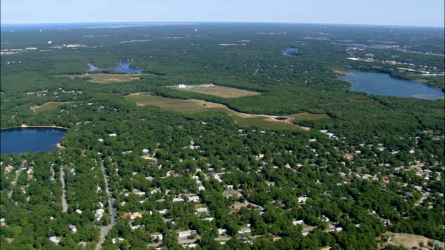 South Yarmouth et West Dennis - vue aérienne - Massachusetts, comté de Barnstable, États-Unis d'Amérique