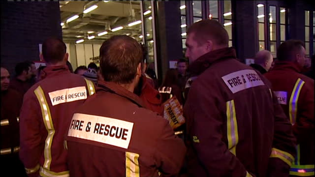 South Yorkshire firefighters begin 24 hour strike ENGLAND South Yorkshire Sheffield Striking firefighters gathered outside fire station on picket line