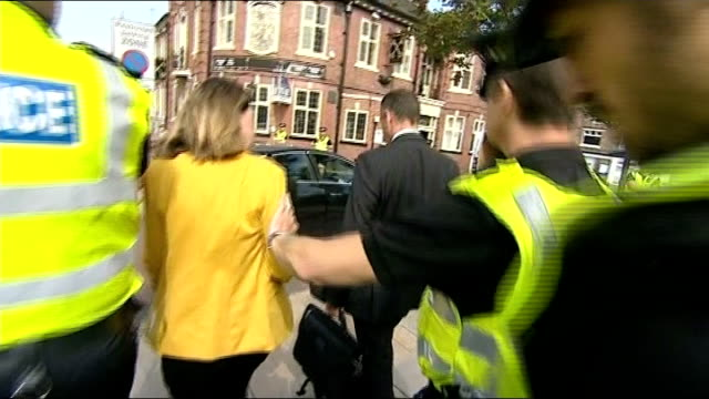 south yorkshire police commissioner resigns over rotherham child abuse scandal lib 1192014 ext itn reporter asking shaun wright if he should resign... - child abuse stock videos & royalty-free footage