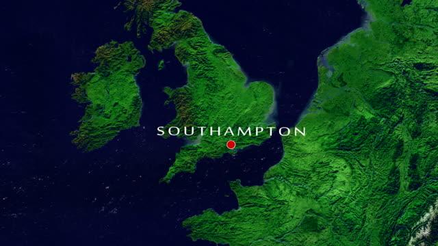 サウサンプトンのズームイン - イングランド サウサンプトン点の映像素材/bロール