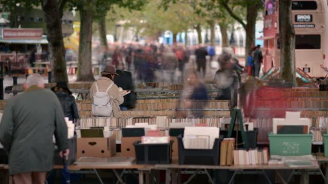 T/L Southbank book market under waterloo bridge