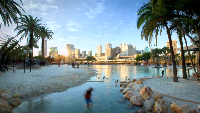 southbank, brisbane, australia - queensland stock videos & royalty-free footage