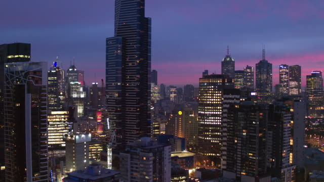 southbank, melbourne city, victoria, australia - sunset stock videos & royalty-free footage