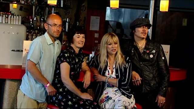 GVs and interviews Wayne Hemingway photocall with his wife Gerardine Hemingway Adam Ant and Jo Wood