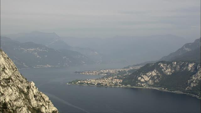 South-East Spur Of Lake Como  - Aerial View - Lombardy, Provincia di Lecco, Oliveto Lario, Italy