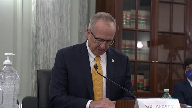 vidéos et rushes de southeastern conference commissioner greg sankey continues his prepared witness statement at a senate commerce committee hearing to evaluate a... - promulguer