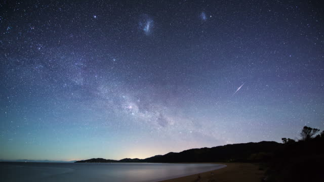time lapse: souther night sky - southern hemisphere stock videos & royalty-free footage