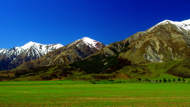 southern alps of new zealand - new zealand southern alps stock videos & royalty-free footage