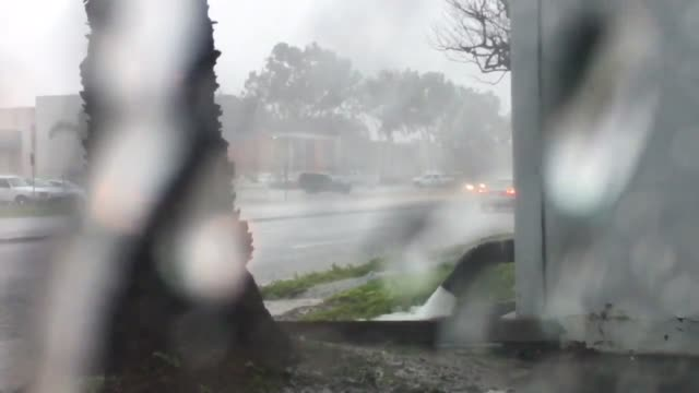Southern California Flooding Rains Strong Winds Downed Trees Huntington Beach Long Beach and Laguna Niguel February 17 2017 Heavy rains bring floods...