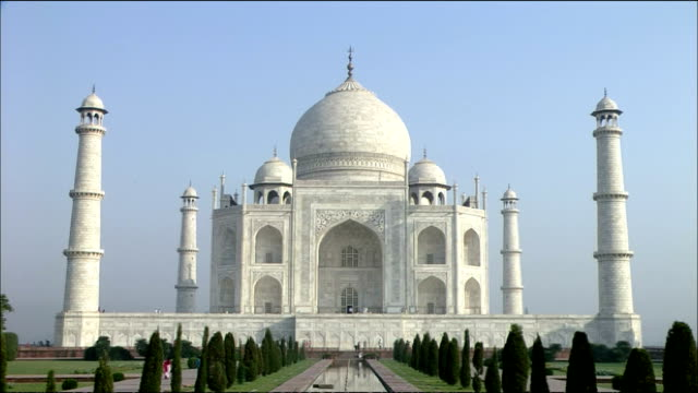southern face of taj mahal, agra - mausoleum stock videos and b-roll footage