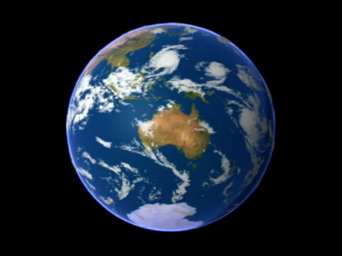 southern hemisphere, animation.. - continente area geografica video stock e b–roll