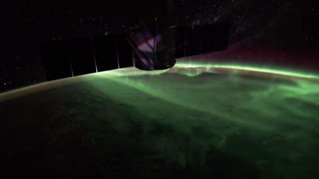 southern lights over the australia - space exploration stock videos & royalty-free footage