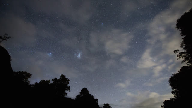 time lapse: southern night sky - southern hemisphere stock videos & royalty-free footage