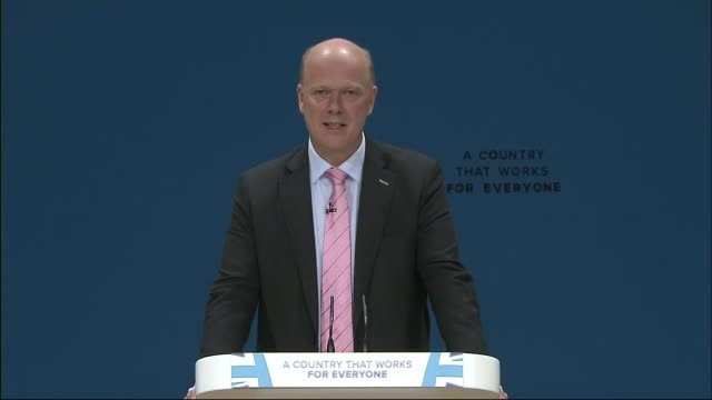 southern rail conductors offered lump sum of 2000 pounds to end industrial action; birmingham: conservative party conference: int chris grayling mp... - strike industrial action stock videos & royalty-free footage