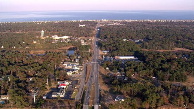 southern shores kitty hawk  - aerial view - north carolina,  dare county,  united states - north carolina beach stock videos & royalty-free footage