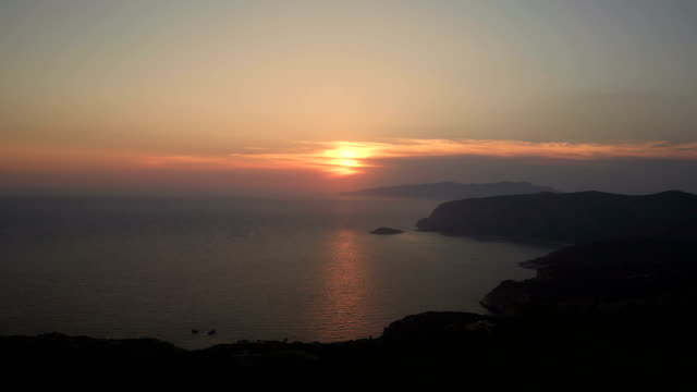 southern sunset - rhodes dodecanese islands stock videos & royalty-free footage