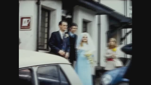 southport, united kingdom october 1966: wedding scene in 60s - southport england stock videos & royalty-free footage