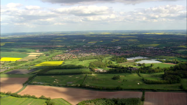 southwell - aerial view - england,  nottinghamshire,  newark and sherwood district,  united kingdom - english culture stock videos & royalty-free footage