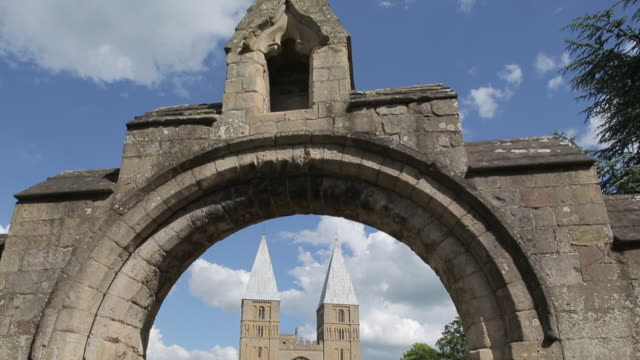 southwell minster, southwell, nottinghamshire, england, uk, europe - pedestrian walkway stock videos & royalty-free footage