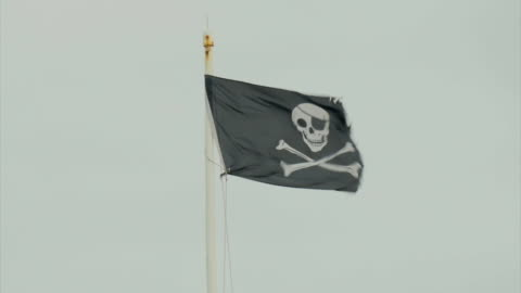 southwold, pirate flag cu, - flag stock videos & royalty-free footage
