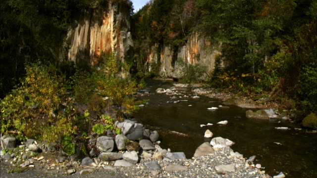 souunkyou  oobako  precipitous cliff  ishikari river - kamikawa district ishikari stock videos and b-roll footage