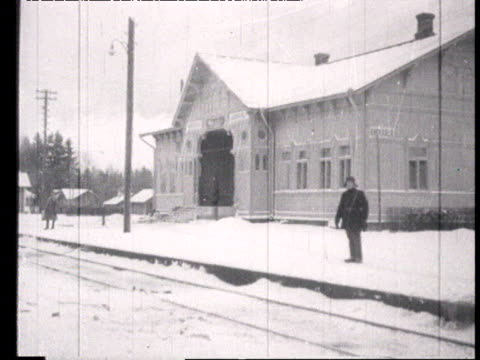 soviet army at frontier in kuokkala in winter, train station, station-master, steam train driving past, goods train loaded with military and... - 1898 stock videos & royalty-free footage