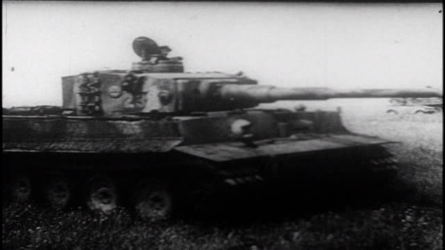 soviet artillery and air force bombard german army, german tanks advancing, soviet forces counterattack. 1983 soviet film commemorating the victory... - tank stock videos & royalty-free footage