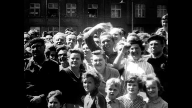 soviet astronaut valentina tereshkova tours czechoslovakia - adulation stock videos & royalty-free footage