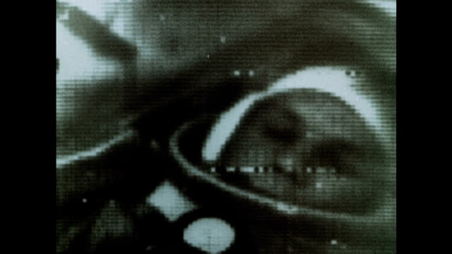 soviet astronaut yuri gagarin and the vostok 1 mission - film montage stock videos & royalty-free footage