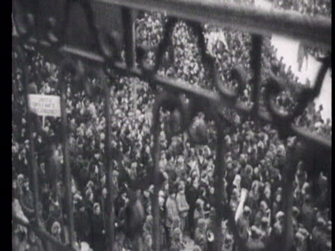 soviet delegation welcome king michael at train station, guard of honour, celebration on streets /cluj, romania, audio - romania stock videos & royalty-free footage