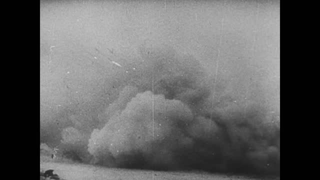 soviet forces firing at geman positions and running to attack - 1942 stock videos & royalty-free footage