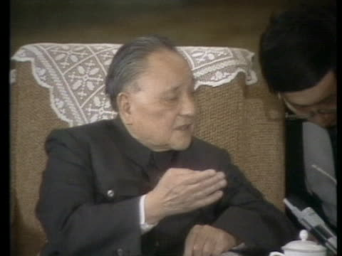 soviet general secretary mikhail gorbachev meets with chinese leader deng xiaoping as protests continue in beijing. - tiananmen square stock videos & royalty-free footage